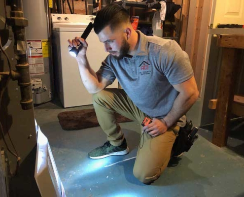 Matthew Zappia - All County Inspections inspecting HVAC