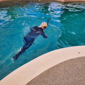 Diver in pool advanced pool inspections