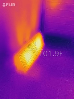 Infrared IMage of Heater Vent