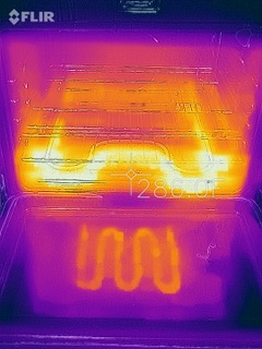Infrared Image of Oven