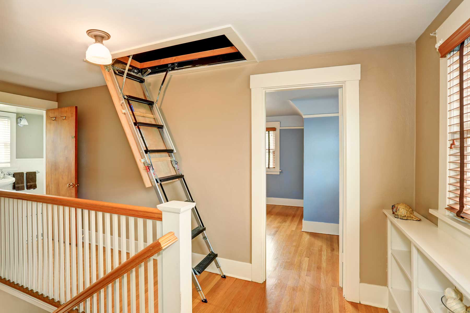 Photo of attic stairs