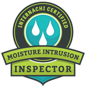 IBEX Home Inspection Moisture Intrusion Inspector InterNACHI Certified Badge